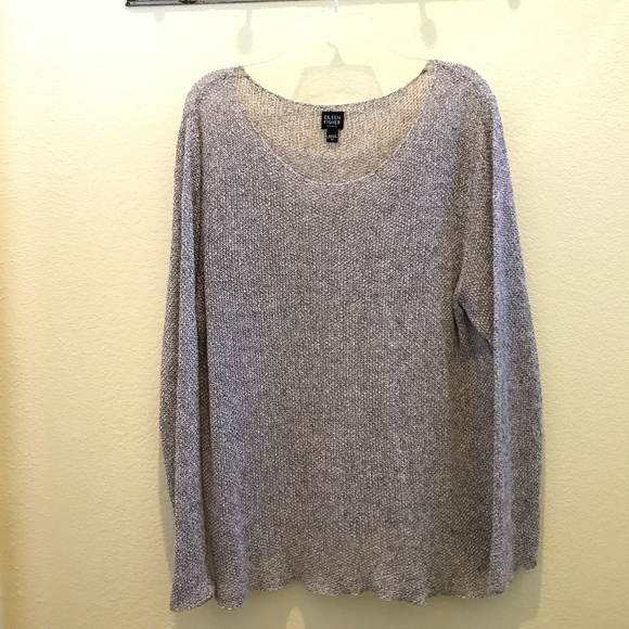 9d8e3c31ce6 Eileen Fisher Sweaters - 🌷 Eileen Fisher Scoop Neck Linen Sweater